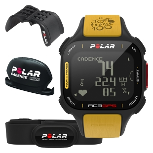 Komputer treningowy Polar RC3 GPS Tour de France Bike